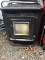 England pellet stove! Very efficient! Has spare auger motor!