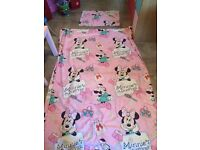 Minnie Mouse duvet cover and pillow case, single bed