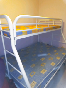 Double Bunk bed single on top double on bott need gone today $150