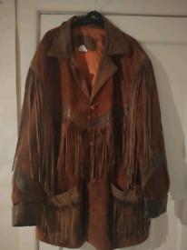 One off Rare Canadian Western Cowboy Fringe Coat