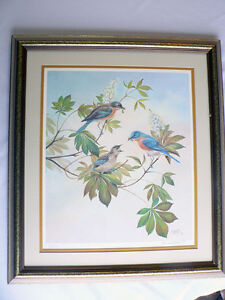 Bluebirds by Bernard Martin Signed Limited Edition Print North Shore Greater Vancouver Area image 5