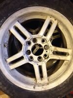 """4x100 15"""" rims and tires"""