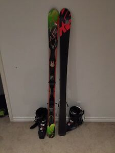 K2 AMP 160cm all mountain skis with Marker M2 bindings