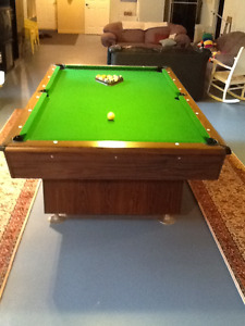 Table de billard bois