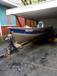 16ft deep and wide boat and trailer
