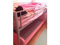Girls bed frame and wardrobe