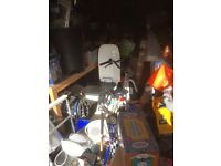 Garage full of car boot stuff