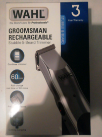 Wahl Groomsman Rechargeable Stubble & Beard Trimmer
