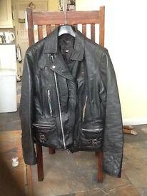 Leather Motorcycle style Jacket