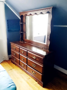 Antique dresser set & night stands