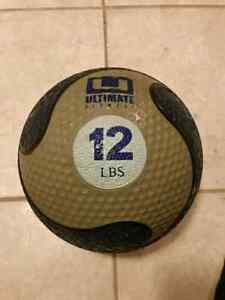 12lb Ultimate Fitness medicine ball $20 OBO.