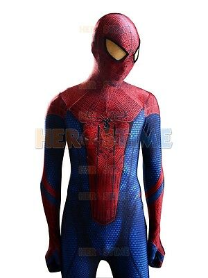 Marvel The Amazing Spiderman Costume Spandex Fullbody Zentai Suit For Kids/Adult