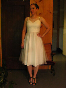 1950s style formal white dress (wedding)