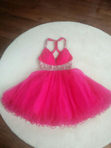 Fuchsia Pink Prom Dress