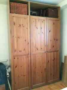 IKEA Pax double and single wardrobes $300