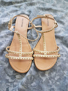 Call It Spring Sandal Flats (Size 8, Barely Used)