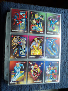 MARVEL TRADING CARDS (1992) plus chase cards