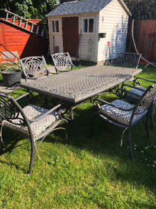 Table patio never rust