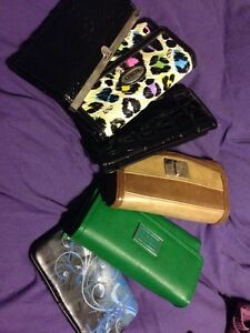 Various wallets and purses for sale