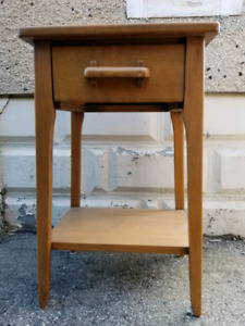 Laminate Bedside Table, Small Wooden Table, Wood Bedside Table.