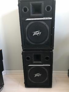 Peavey PA speakers