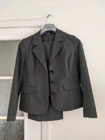 Grey Pinstripe Trousersuit, size 14.