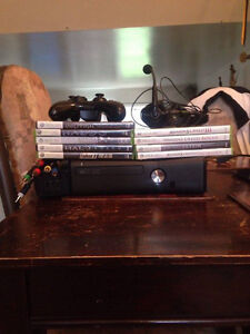 Xbox 360. 250GB HDD with 9 games.