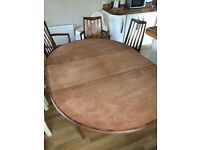 G plan retro table and chair set