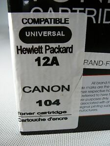 Toner cartrige Hewlett Packard 12A Canon 104 London Ontario image 5
