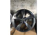 "Audi A3 a3 black edition rotar alloy wheels 18"" Vw gti edition 35 s3 5112 vag alloys"