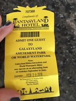 Water park or galaxy land ticket