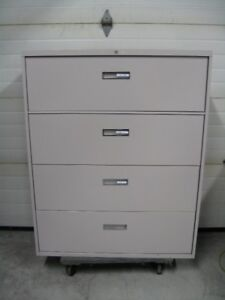 Steelcase 4 Drawer Lateral Filing Cabinet