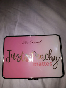 Too faced just peachy matte eyeshadow palette.