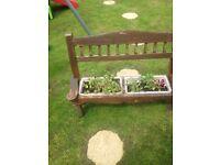 Bench planter