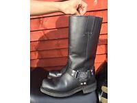 Harley davidson motorbike boots unisex size 7/8