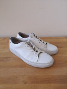 Frank And Oak Minimal White Leather Sneakers - Size 9