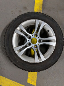 BMW mags and Pirelli studded tires 205/55R16 e46 e85 e86 OBO