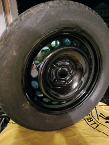 Volkswagen VW Gislaved winter snow tires and rims. 5x112