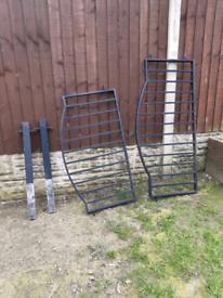 Wrought iron fence railings