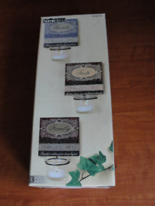 Metal wall sconces new in box set of three