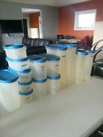 lot of tupperware storage containers
