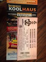 Octoberfest tickets 4 for $40