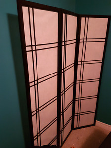 3 panel room privacy divider