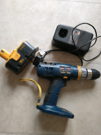 Ryobi 18v cordless combi drill charger and battery hammer