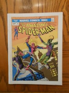Marvel Comics Indexes #1 and #2 original collectibles