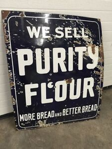Antique Purity Flour Porcelain sign