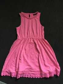 Girls Pink Summer Dress from George age 10-11yrs
