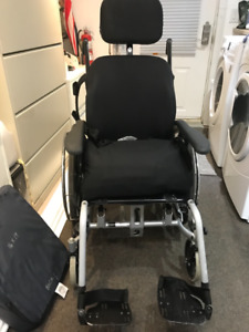 Reclining Future Mobility wheel chair with Tray  extra cushion