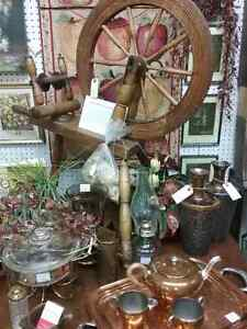 Spinning wheel, knitting needles, glass, cabinets + 600 booths Stratford Kitchener Area image 1