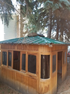 Cedar Gazebo Hot Tub Enclosure
